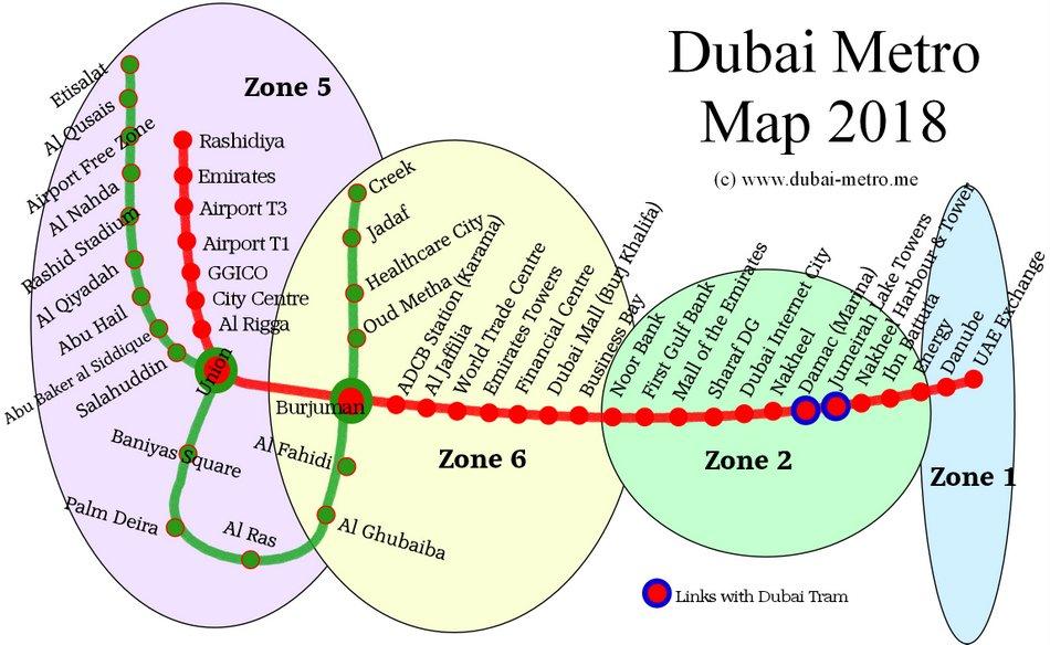نقشه کامل خطوط مترو دبی