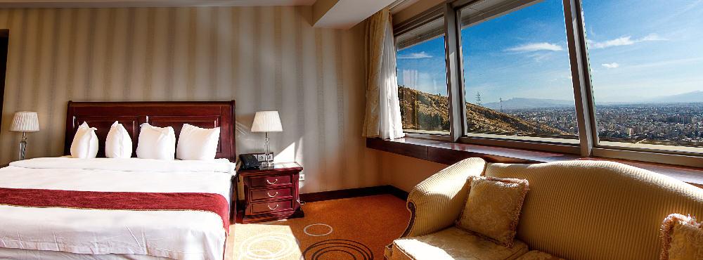 چشم انداز اتاق های هتل شیراز