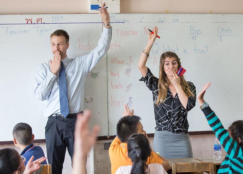 معلم انگلیسی در تایلند