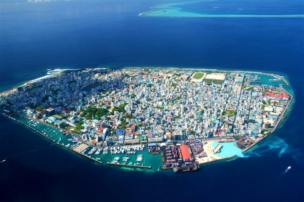 پایتخت مالدیو از بالا